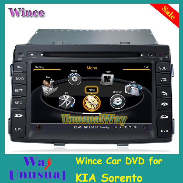 Free Shipping Two Din S100 Car dvd player for Kia Sorento 2009-2012 with GPS BT Touch Screen(China (Mainland))