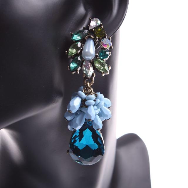 2016 заявление новинка марка напыщенные кристалл женские серьги проектирует фотографии бесплатная доставка