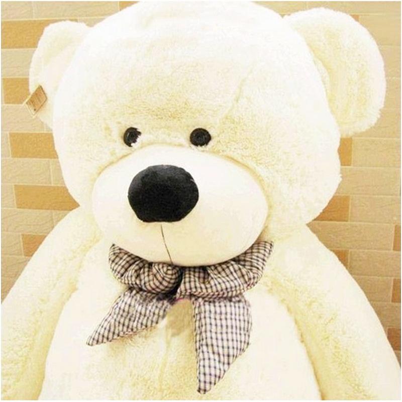 New Hot 80CM Giant Big Cute Plush Stuffed Teddy Bear Huge Soft 100% Cotton Toy Best Gift ESL #53444(China (Mainland))