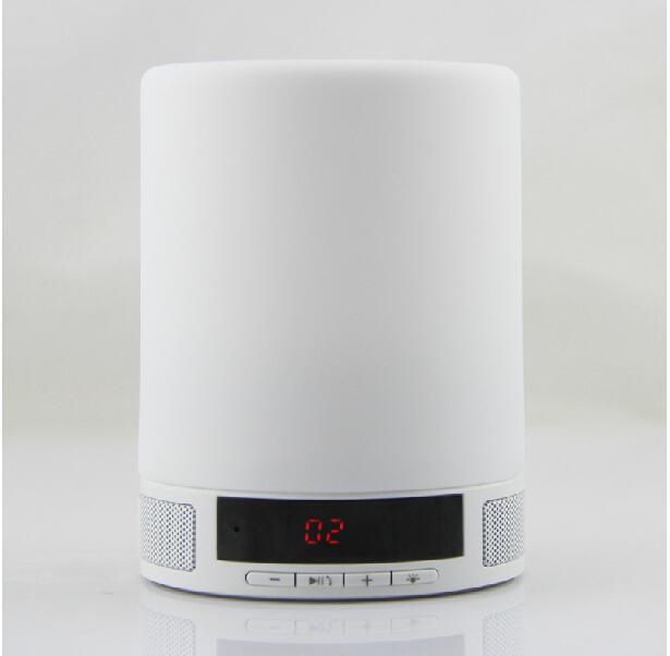 Smart Bluetooth speakers touch Nightlight Card mini audio Bedside Alarm Clock(China (Mainland))