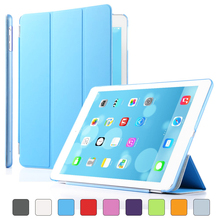 Detachable Slim Magnetic Leather Cover Stand For ipad air 2 / 6 + translucent Smart Case for Apple Ipad Air 1 / 5 Auto Sleep