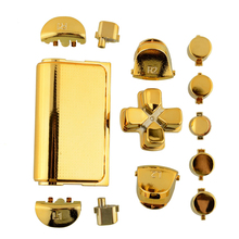 Fashion Full Buttons Mod Kits Set Chrome Gold For Playstation 4 PS4 Controller Joystick Video Playstation(China (Mainland))