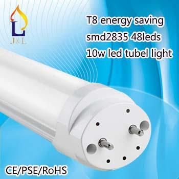 T8 lighter Led Tube 600mm 10w SMD 2835 economic Led Bulbs Tubes Light Fluorescent AC 220V/110V 100pcs/lot(China (Mainland))