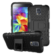 For Samsung S5 Case i9600 G900F G900A Heavy Duty Armor Shockproof Hard Silicone Phone Cover For Samsung Galaxy S5 with Stand [<(China (Mainland))