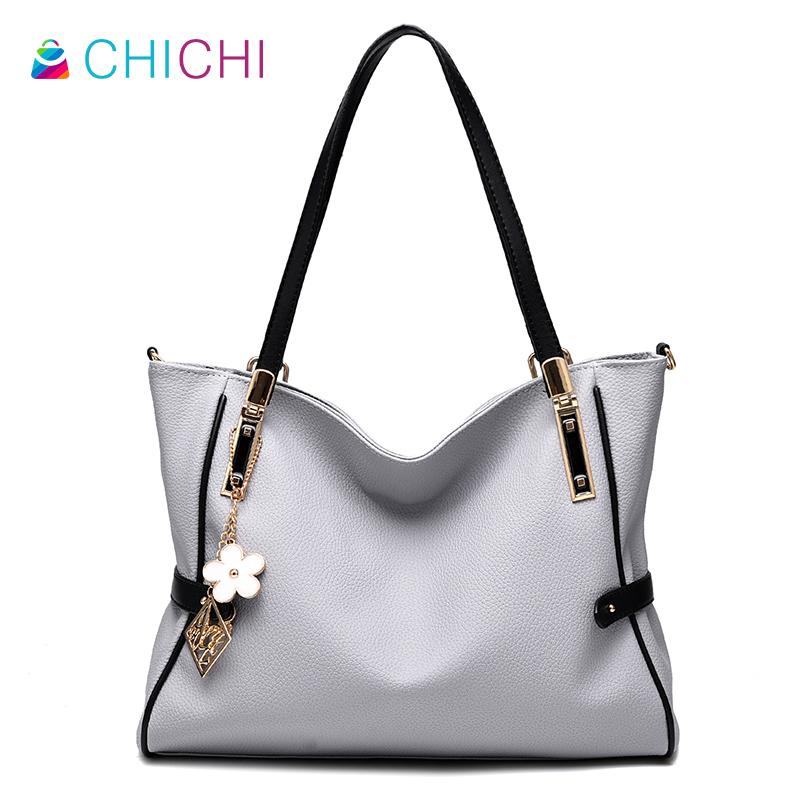 CHICHI Luxury 2016 Large Shoulder Bag Women Soft Leather Handbags Totes Ladies Hand Bags Designer Casual Female Shopping Purses(China (Mainland))