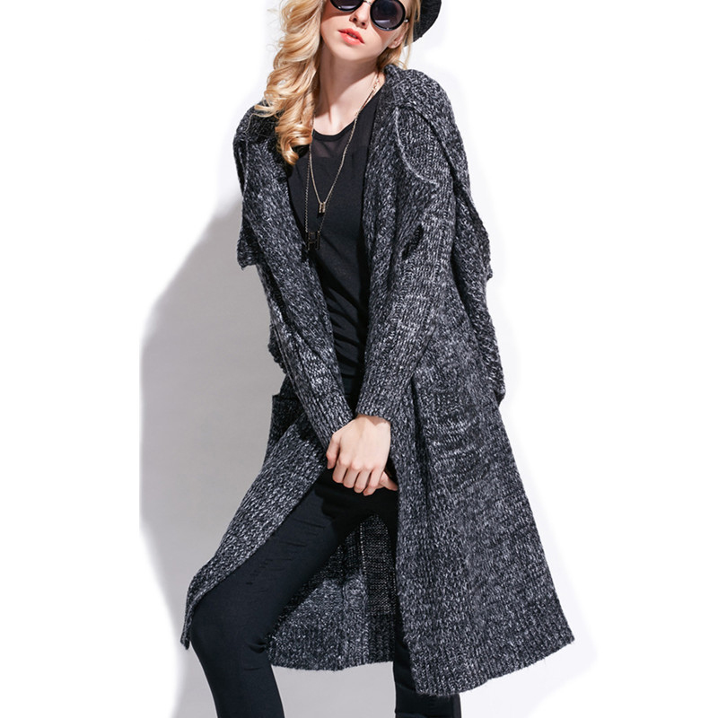 Black Sweater Coat Cardigan