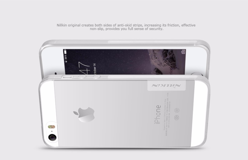 Original NILLKIN Ultra Thin Transparent Nature TPU Case For iPhone 5 5s SE Clear TPU Soft Back Cover Case For iPhone 5 5s Case
