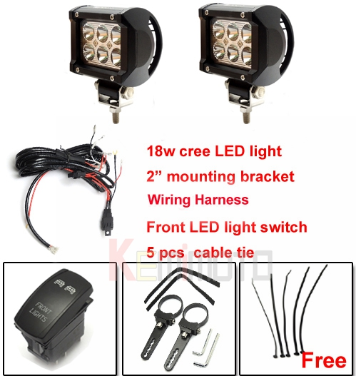 2 quot mounting bracket cree led light wiring harness rocker switch for polaris xp 900 1000