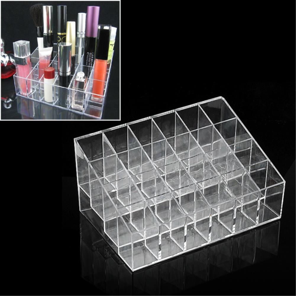 Top Quality Lipstick Display Stand,Trapezoid 24 Lipstick Lip Gloss Display Stand Holder Case Cosmetic Organizer<br><br>Aliexpress