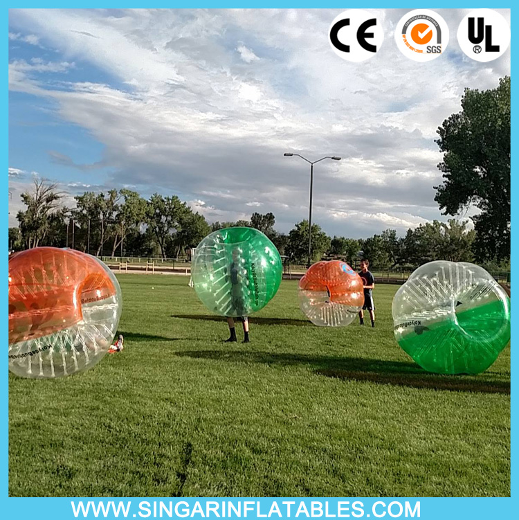 Free shipping 0.8mm PVC 1.5m diameter bubble footy,thunder ball,bubble soccer for adults(China (Mainland))