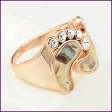 SI 2014 Fashion Jewelry New Arrival Foot Style Ring Rhinestone 18K Gold Plated Pretty For Women