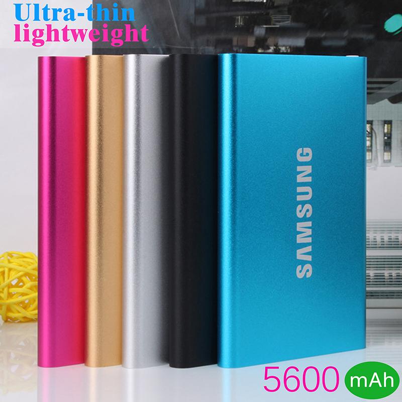 Original Slim Power Bank 5600mAh USB External Backup Battery Portable Charger PowerBank for all phone(China (Mainland))