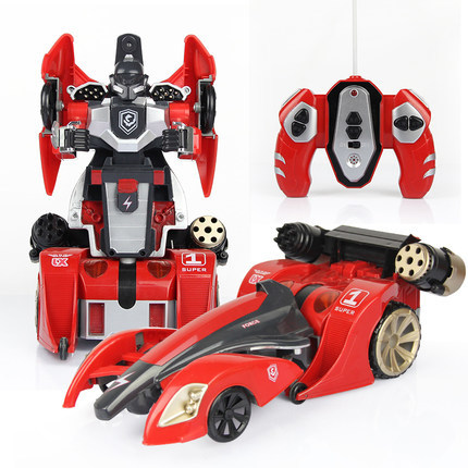 Deformation car man robot remote control car deformation of the spiral light childrens educational model toys parent-child toy <br>