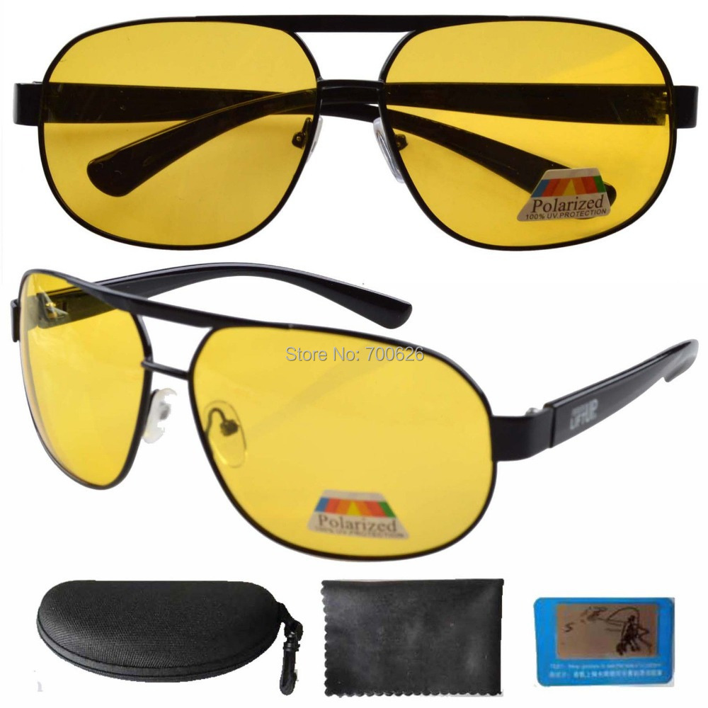S3840 Yellow Polarized Sunglasses Night Vision Driving Glasses Include Case(China (Mainland))