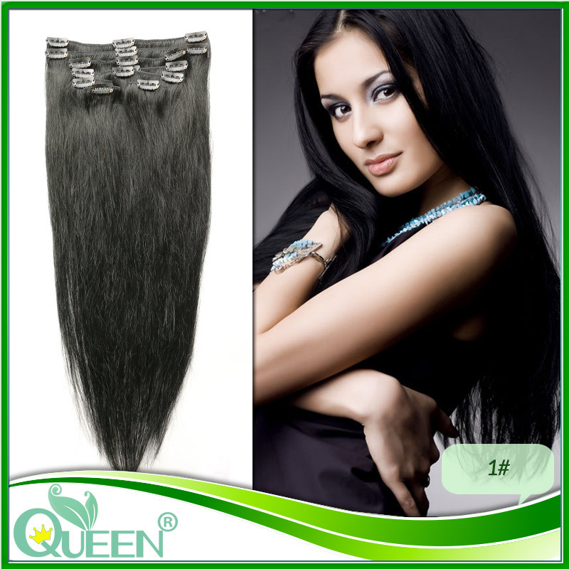 2# Best Selling Virgin Remy Hair Clip In Human Hair Extensions Full head Set 12 Colors available Malaysian virgin clip-in hair(China (Mainland))
