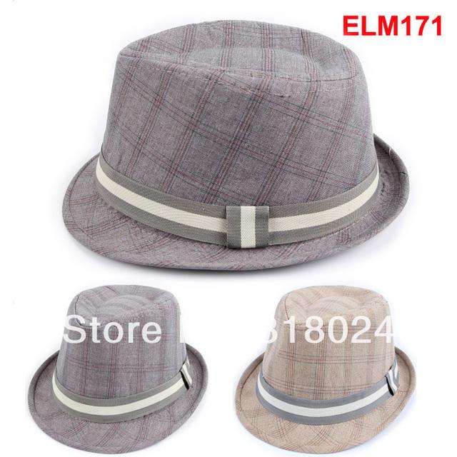 10 шт. / lot винтажный шляпа шотландка дети мягкие фетровые шляпы шляпа младенцы мягкая фетровая шляпа дети джаз кепка девочки-младенцы мягкие фетровые шляпы дерби шляпа