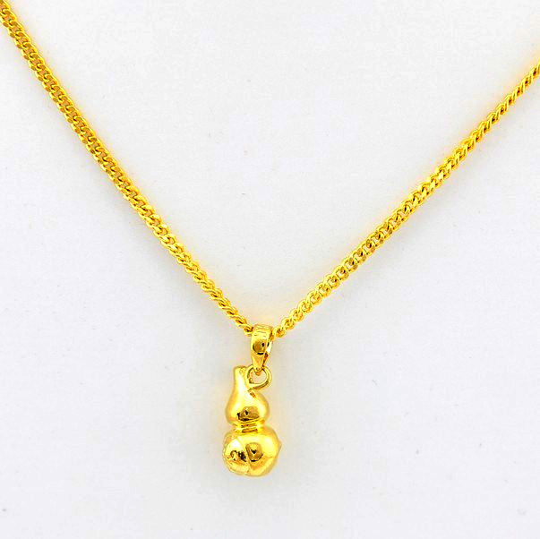 High Taste Leisure Simple Gourd Charm Women Jewelry Vintage Pendant Necklace Trendy Figro Chain Fashion Accessories JP020(China (Mainland))
