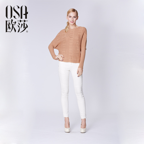 OSA 2015 Winter loose Batwing Sleeve pullover Autumn women damen sweaters Casual O-neck Hollow wool Solid knitted femme SH429033 - Overseas Store store