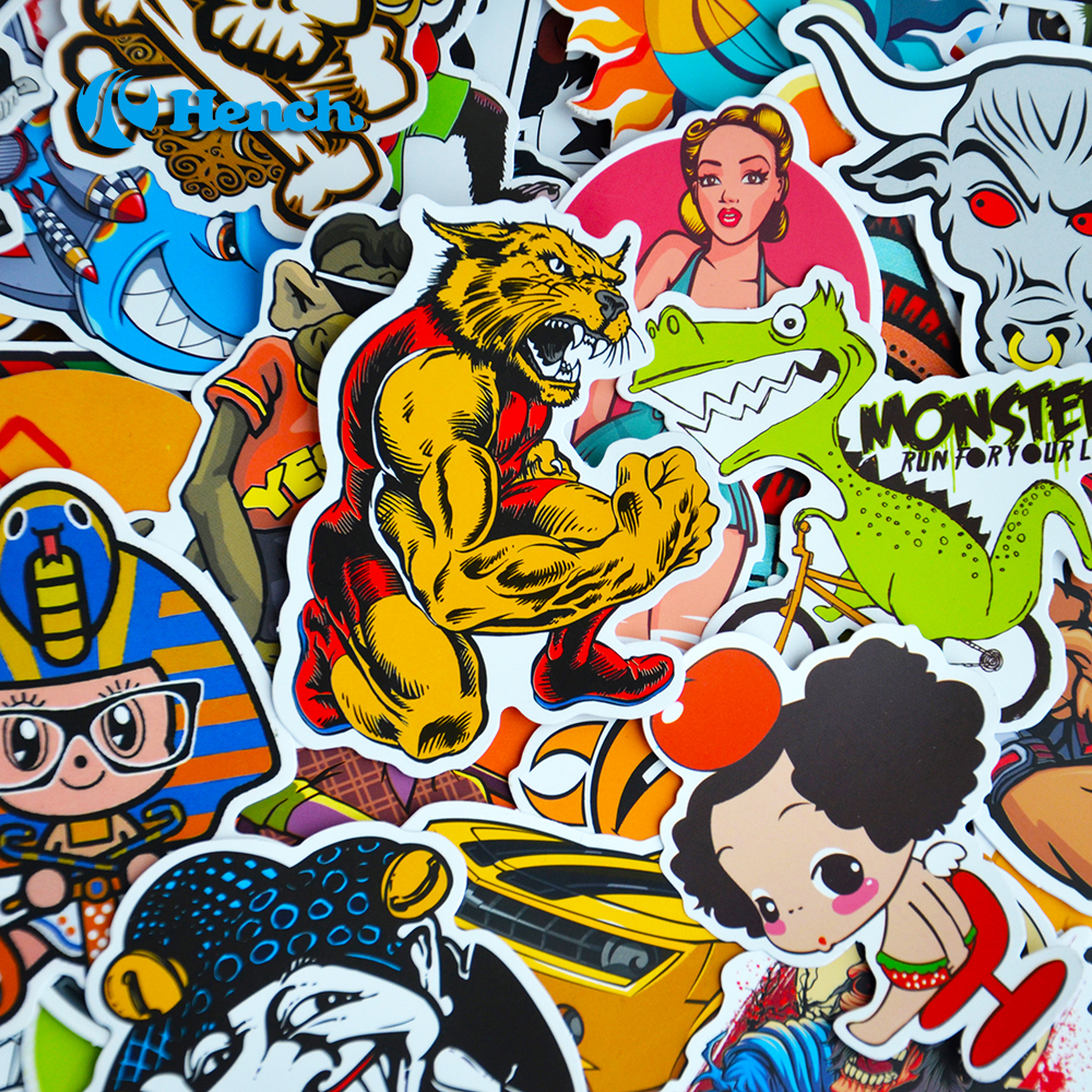 Car Styling Doodle Sticker Bomb Graffiti Skateboard Stickers Snowboard Motorcycle Bicycle luggage Bags Accessories Guitar Decal(China (Mainland))