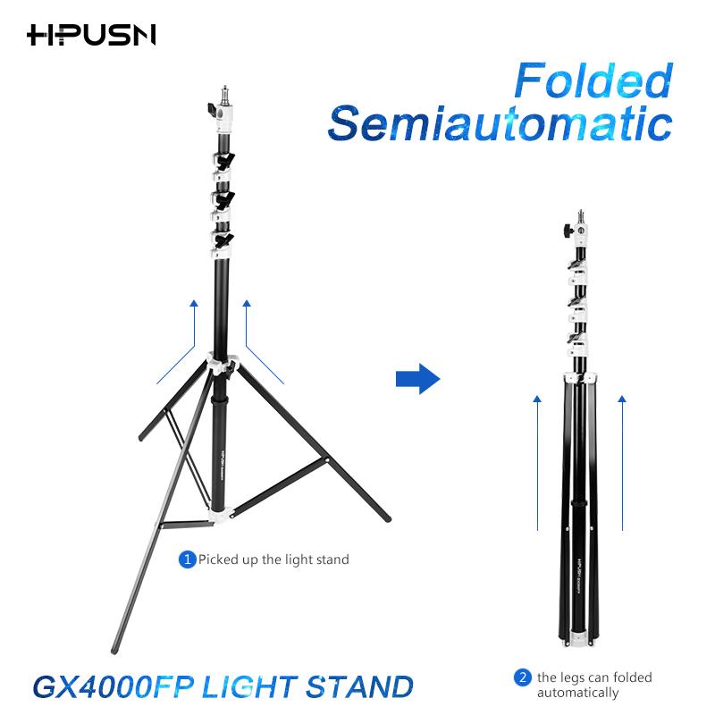 HPUSN Aluminum Light Stand quick set up metal Tripod Photo Camera Video LED Lighting Flash light support multi direction mount(China (Mainland))