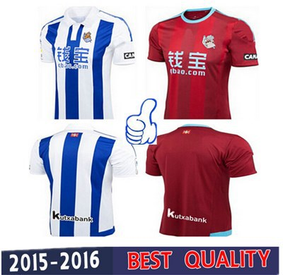 2016 new real sociedad soccer jersey shirt 15 16 thai for Aroma royal thai cuisine nj