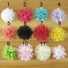 Free shipping,60pcs/color,New style,Mixcolor wholesale baby girl wave shabby fabric Flowers for hair accessories DIY,LY25(China (Mainland))
