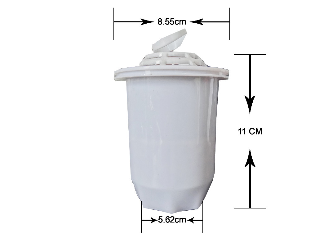 Free Shipping By China Post 10pcs/lot High Quality for New Model 3.5L Alkaline Water Pitcher Filter Replacement(China (Mainland))