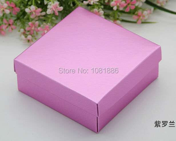 2cm Large violet paper candy box favor wedding, gift packaging box ...