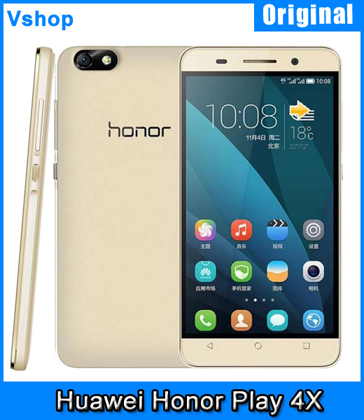 Original Huawei Honor Play 4X 5.5 inch MSM8916 Quad Core 1.2GHz Smartphone RAM 2GB ROM 8GB 4G FDD-LTE & GSM & WCDMA Cell Phone