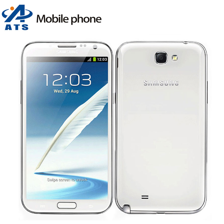 N7100 Cell phone Oringnal Samsung Galaxy Note 2 N7100 Mobile Phone 5.5 inch 8.0MP 2GB RAM 16GB ROM Quad Core Free Shipping(China (Mainland))