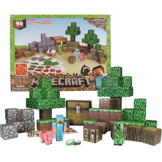 A set of minecraft papercrafts toys for kids child for Minecraft crafts for kids