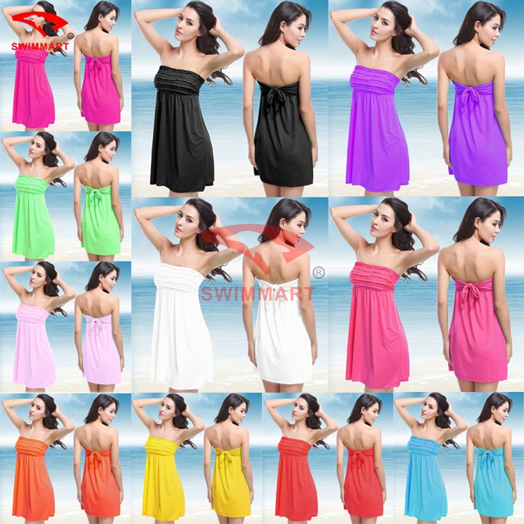 2015 Top Fashion Cute Summer Dress Dress And The United States Petals Wrapped Chest 11 Color Sweet Sexy Vb005 Factory Direct(China (Mainland))