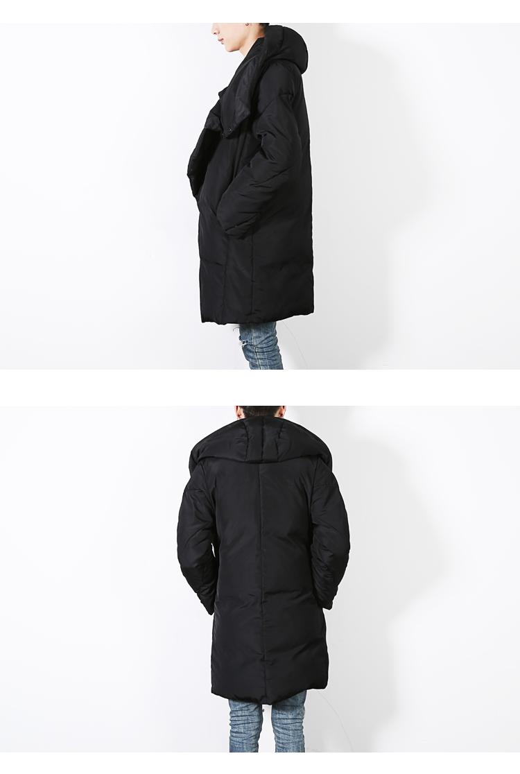 Скидки на 2016 Зима новый мужская куртка теплый длинные мужские с капюшоном повседневные куртки хлопка пальто мода панк плащ пальто D01