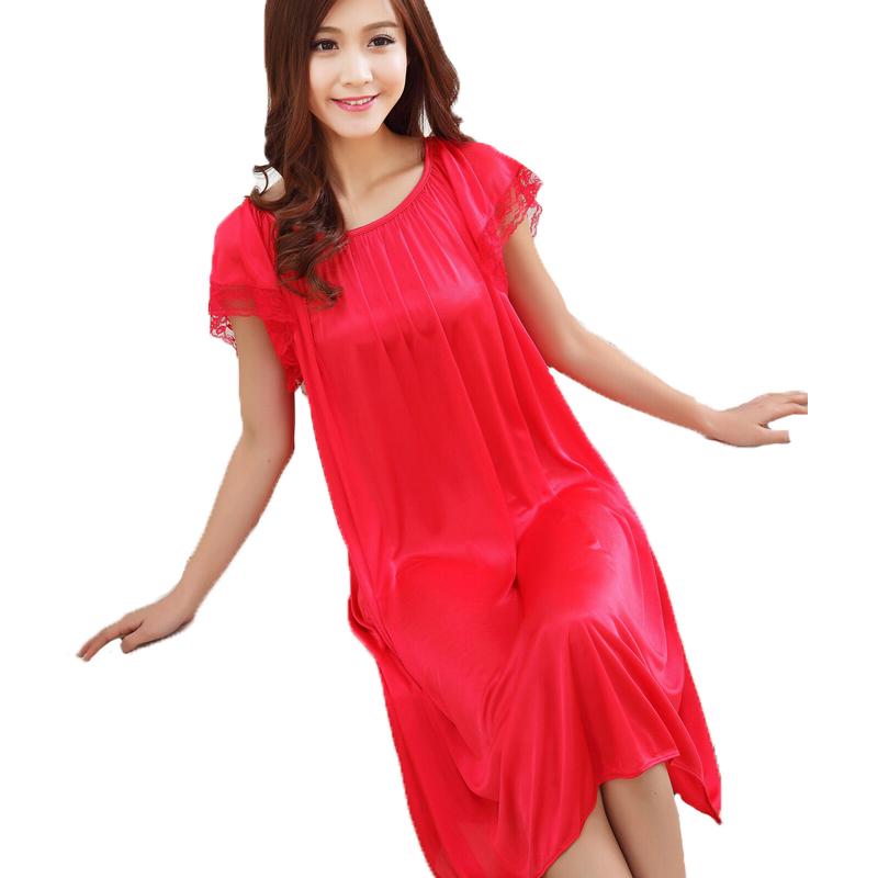Popular Long Silk Nightgowns-Buy Cheap Long Silk ...