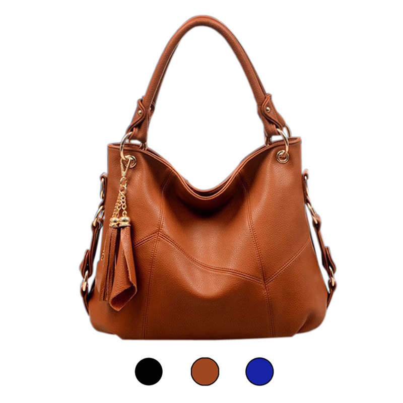 2015 Fashion Genuine Leather Bag Bolsas Classic Cowhide Tassel Handbags Vintage Women Bag Female Casual Shoulder Messenger Bags(China (Mainland))