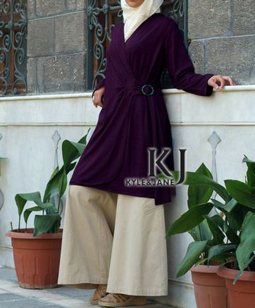 Kyle et jane - abaya musulmane manches longues Maxi robe moyen - orient djellaba femme tunique pakistanais vêtements gros et de détail KJ-TOPS10021(China (Mainland))