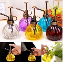 Free Shipping !!! 240ml Retro Hand Pressure Glass Spray Bottle Garden Plant Watering Can Tool(China (Mainland))