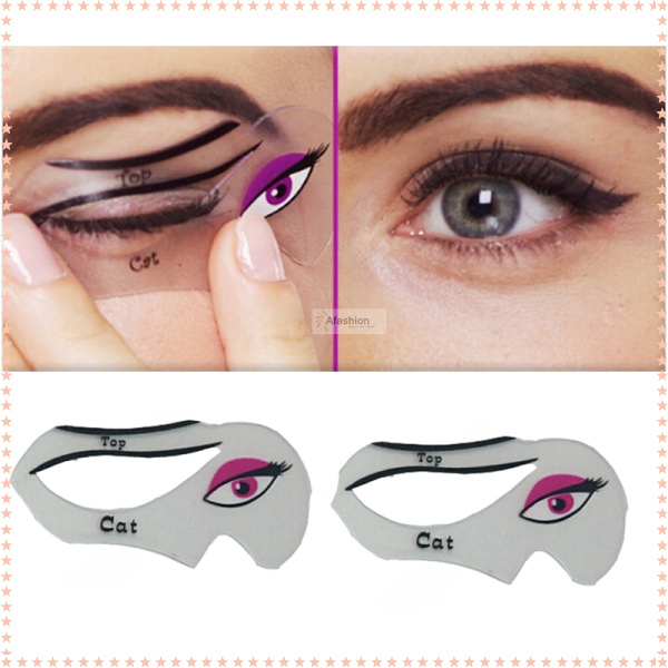 1pack makeup cat eyeliner stencil kit model for eyebrows template fard a paupiere diy pochoir card