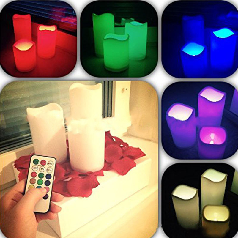 Multicolor Led Creative Electronic Candles 18 Button timing Romantic Wedding Birthday Party Home Decoration Light Bar Hotel Vela(China (Mainland))
