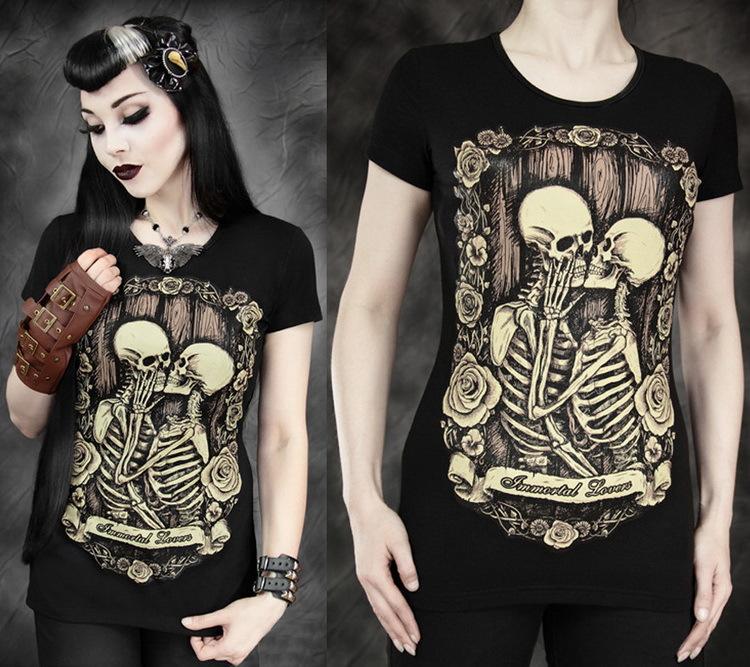 2015 Summer T shirts for women harajuku casual 3D tshirts 2015 fashion skull print tops tees