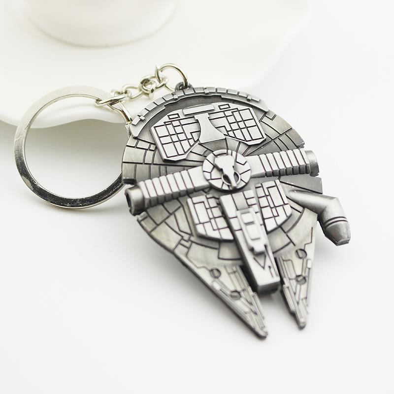 The Moive Star Wars Spacecraft alloy silver metal keychain pendant anime Key Chains star wars ship for men gadgets for men(China (Mainland))