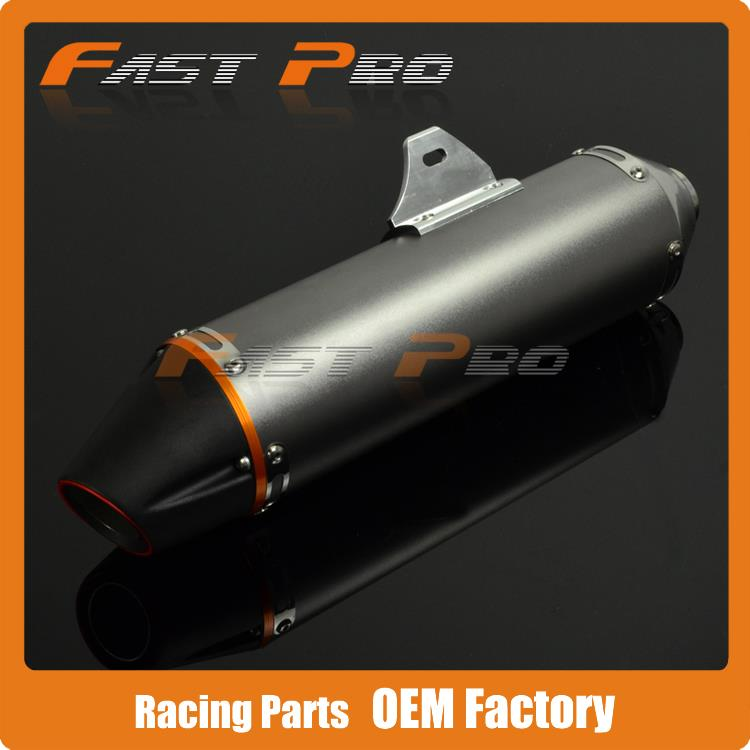 Aluminum font b Exhaust b font Muffler 38MM For CRF150F CRF230F 2003 2013 Motocross Enduro Supermoto