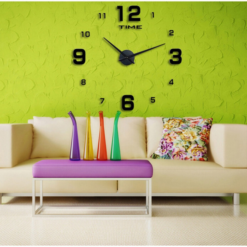 2016 Hot Sale Luxury Large Diy 3d Wall Clock Home Decor