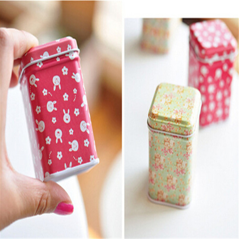 Free Shipping Creative Mini Tin Box Jewelry/Candy/Coin Storage Can Box Multy Designs(China (Mainland))