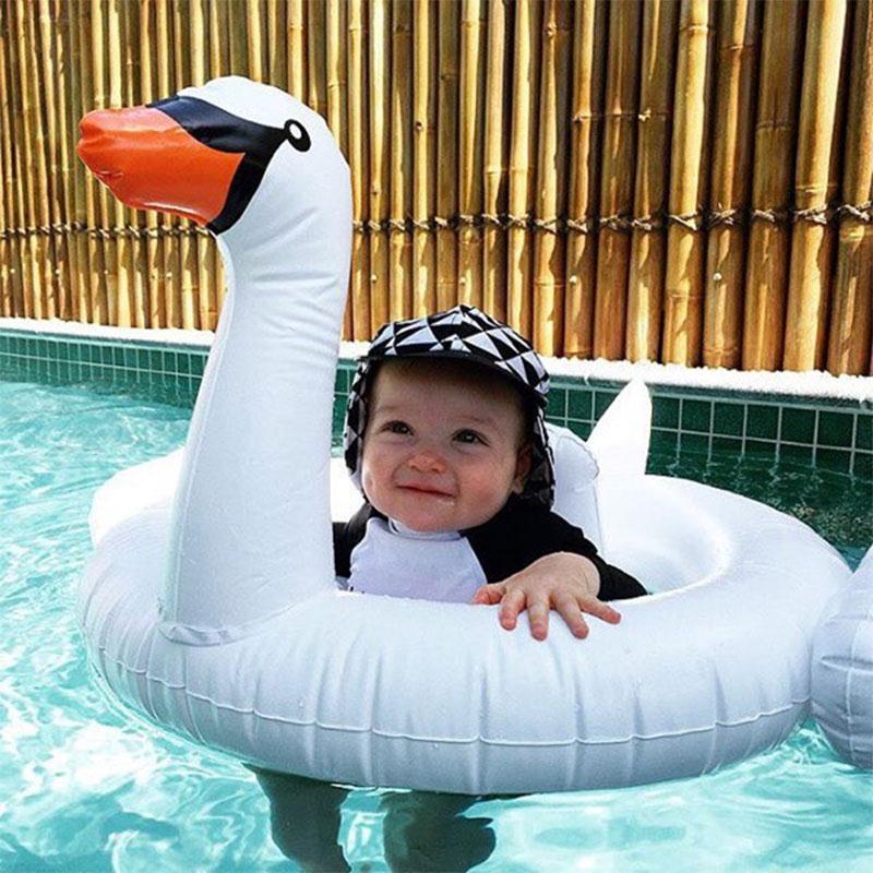 Baby Toddler Kids Children Inflatable PVC White Swan Swimming Ring Float Fun Toy(China (Mainland))