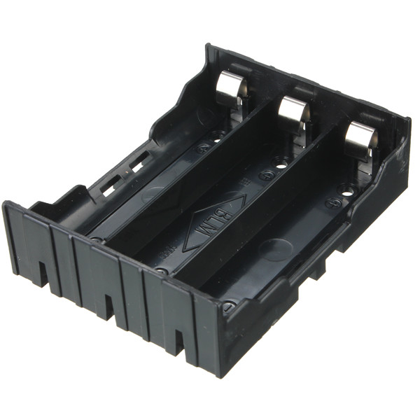 High quality Practical DIY Black Storage Box Holder Case For 3x 3 7V 18650 Rechargeable Batteries