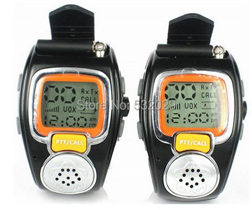 2 Pcs Pair Portable Digital Freetalker Walkie Talkie Two 2-Way Radio Wrist Watch(China (Mainland))