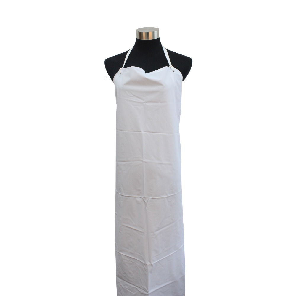 1pcs Industrial Heavy Duty Waterproof White Water Proof Apron Butchers Kitchen Long type Aprons(China (Mainland))