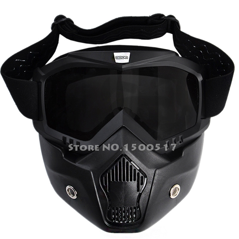 New Arrival The Most Popular Detachable Modular Mask Goggles And Mouth Filter for Motorcycle Helmet Moto Casque Casco Capacete<br><br>Aliexpress