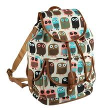 Classic Jacquard Owl Pattern Women Backpacks School bag Graffiti Backpack for Teenager Girls Women Rucksack Outdoor Travel Bag(China (Mainland))